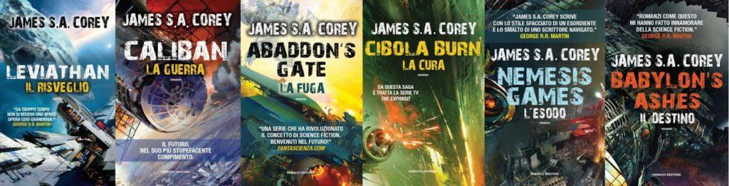The Expanse, copertine italiane dei primi 6 libri