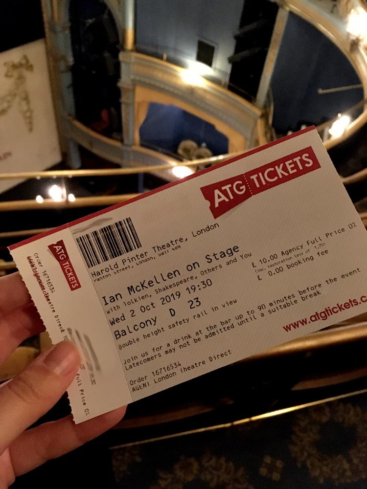 fanheart3 ian mckellen on stage ticket
