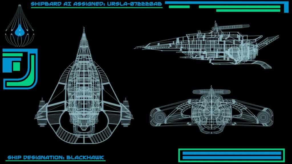 Schematics of spaceship of Alien Rescue